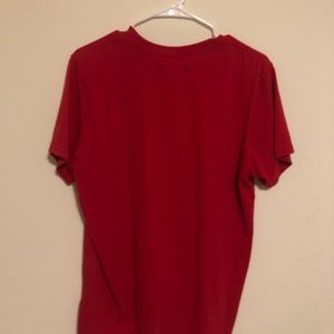 *WORN ONCE* Red Adidas Trefoil T-Shirt